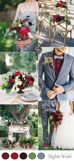 Burgundy is one of our favorite wedding colors. The berry-hued, wine-inspired jewel tone is a perfect addition to any fall or winter color palette, but can also work for some daring spring and summer palettes as well... #ChristmasWeddingIdeas