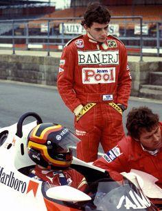 Ayrton Senna y Stefan Bellof en una sesión de prueba con Mclaren, Bellof otro muy grande que murió muy joven
