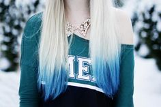 If I were blond, I would dye the ends of my hair blue