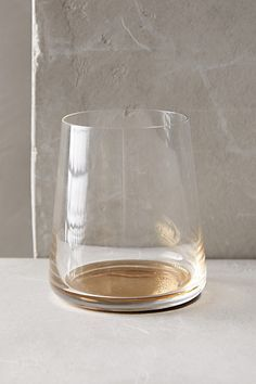 Color-Drop Stemless Wine Glass  #anthropologie