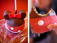 Adorable Mini Mouse Caramel Apple! Available at Disneyland.