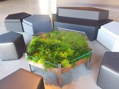 The Living Table by Habitat Horticulture ---- I wanna have a round one ;) ---- 13 Fun Furniture Designs That Combine Function & Nature