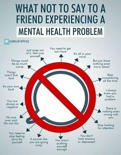 Mental health issues What not to say Mental Health Matters Wales Mental Health Quotes, Mental Health Matters, Mental Health Problems, What Is Mental Health, Mental Health Counseling, Corpus Christi, Arthritis, Mental Disorders, Bipolar Disorder Facts