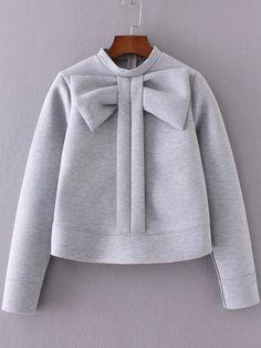 Negozio Felpa Girocollo Abbellita Prua - Grigio on-line. SheIn offre Felpa Girocollo Abbellita Prua - Grigio & di più per soddisfare le vostre esigenze di moda.