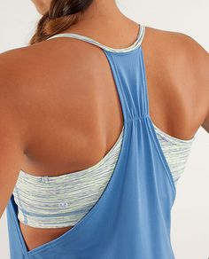lululemon No Limits Tank - limitless blue / wee are from space polar cream/clarity yellow