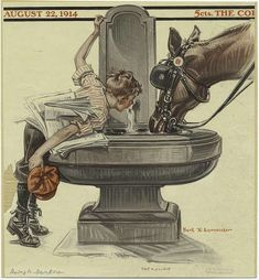 Братья Joseph Christian Leyendecker и Francis Xavier Leyendecker работ) Joseph, Jc Leyendecker, Francis Xavier, Water Drawing, Norman Rockwell, Old Barns, New York Public Library, Horse Art, Humane Society