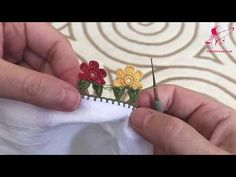 Crochet Lace Edging, Crochet Borders, Crochet Flowers, Saree Tassels Designs, Saree Kuchu Designs, Phulkari Embroidery, Hand Embroidery, Diy Fashion Hacks, Flower Circle
