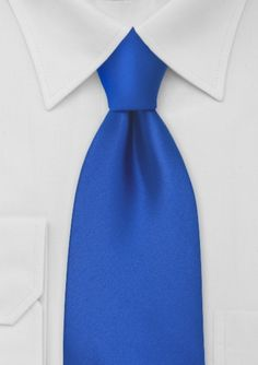 Azure blue tie