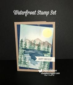 I love using the Waterfront stamp set from the Stampin' Up! 2018 Occasions catalog.  It is perfect for masculine birthday cards.  Did you notice the designer series paper, True Gentleman?