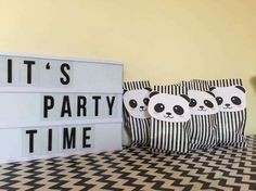 panda-party its party time sign