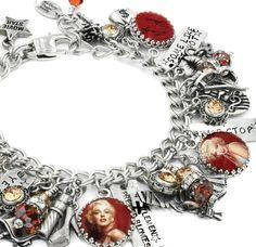 Marilyn Monroe Bracelet, Marilyn Jewelry, Movie Star Bracelet