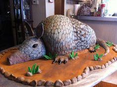 Armadillo grooms cake  Cake by JoysPlace