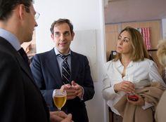 Gonzalo Fernández, de Funds People, con Christian Rouquerol, de NGAM, y Patricia Temes, de Morning Star