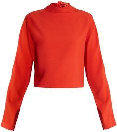 Jonathan Saunders, Creative Colour, Asymmetrical Skirt, Red High, Silk Skirt, Red Poppies, Color Trends, Diane Von Furstenberg, Work Wear