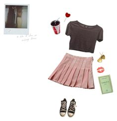 """tea in the cabin"" by cemeteryfairy on Polyvore featuring WithChic, Topshop and Converse"