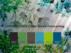 Trend forecasting on Behance Fashion Show Themes, Fashion Trends, Marine Colors, Green Grapes, Graphic Design Trends, Design Design, Colour Pallette, Delphinium, Planner