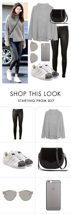 """""""Kendall Jenner"""" by allex17 ❤ liked on Polyvore featuring AG Adriano Goldschmied, Vince, adidas Originals, Rebecca Minkoff, Christian Dior and Native Union"""