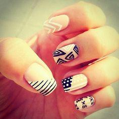 LOVE! Mix & Match #Nails #NailArt