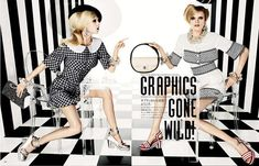 Graphics Gone Wild. Bold stripes and prints gone wild in this editorial featuring Hanne Gaby Odiele and Juliana Schurig for Vogue Japan March 2013 issue. Styled by the daring Anna Dello Russo. Fashion Tape, Fashion Cover, Cozy Fashion, Fashion Beauty, Girl Fashion, Fashion Design, Vogue Japan, Beauty Editorial, Editorial Fashion