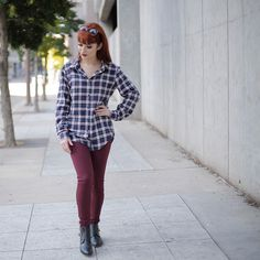 Lupe Sujey Cuevas on Instagram: Today's fashion post  Post de moda @justfabonline Plaid Shirt|Camisa  @cicihot boots|botas (Fav)  @forever21red skinny jeans  @jackyohhair_ did so good on my hair! I'm so obsessed.  @jackyohhair_ hico tan bien en mi pelo
