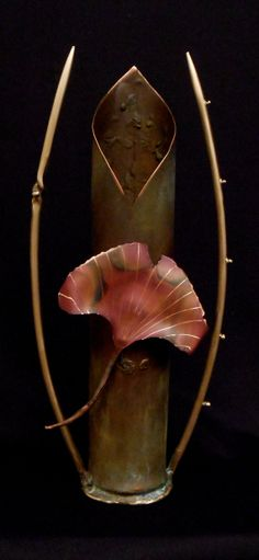 Copper and Bronze Handmade Green and Red by benyanosculpture, $225.00