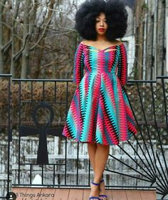 Today's Ankara Product of the Day is the Zariah African Print Dress by Tribal Groove. The dress features a off the shoulder wide neckline with cut out African Print Dresses, African Fashion Dresses, African Attire, African Wear, African Women, African Dress, African Style, African Clothes, Ankara Fashion