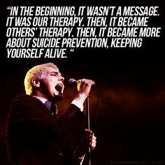 ~ Gerard Way <33 Thank you My Chemical Romance