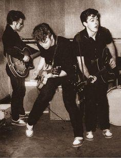 John Lennon, Paul McCartney & Stuart Sutcliffe