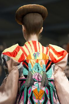 bold & bright embroidery love!  from the Manish Arora runway
