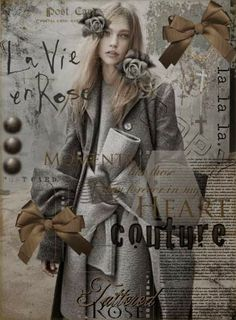 Tattered Rose: Couture from the Heart.by Tattered Rose Fifty Shades Of Grey, Shades Of Black, Grey And Beige, Black And Brown, Raindrops And Roses, Grey Gardens, Creative Colour, Creative Ideas, Jolie Photo