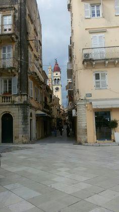Old Town of Corfu Corfu Town, Corfu Greece, Old Town, Traveling, Heaven, Island, Architecture, Street, Places
