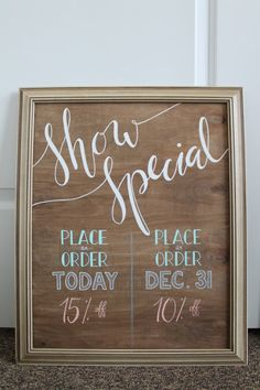 Custom hand painted signs are perfect for vendors and crafters that attend shows. They make unique additions to your booth/table.