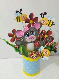Foam Crafts, Diy And Crafts, Arts And Crafts, Clay People, Flower Pens, Origami Animals, Japan Art, Sugar Art, Craft Activities For Kids