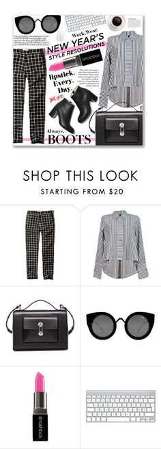 """""""Lipstick & Boots..."""" by clovers-mind ❤ liked on Polyvore featuring Abercrombie & Fitch, Balenciaga, Quay, Smashbox, Paul Andrew, WorkWear, Work, styleresolution and styleessentials"""
