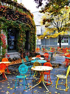 love the patio furniture and colors