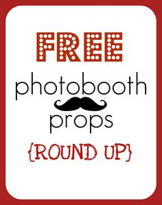 {ROUND UP} free printable photobooth props - Creative Juice. Cute for photo booth for party! Diy Photo Booth, Photo Props, Photo Booths, Photobooth Props Printable, Accessoires Photo, Diy Crafts For Gifts, Photo Craft, New Years Eve, Best Part Of Me