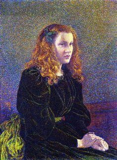 Girl in Green, c. 1892 , by Theo van Rysselberghe