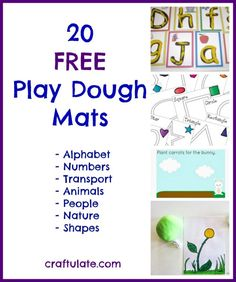 20 Free Play Dough Mats