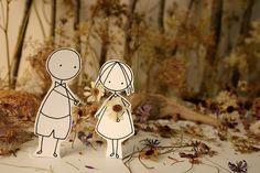Valentines - Forest Love  - Photo print - Paper diorama  - children illustration