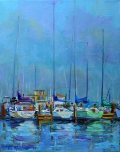 SAILBOATS SITTING PRETTY by ELIZABETH BLAYLOCK, painting by artist Elizabeth Blaylock
