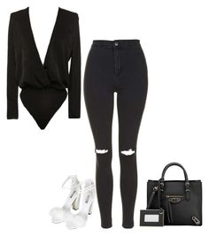 """""""Untitled #640"""" by kylie100 ❤ liked on Polyvore featuring Balenciaga and Topshop"""