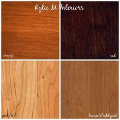 How to Mix, Match and Coordinate Wood Stains / Undertones - Kylie M Interiors