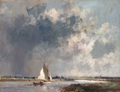 Edward Seago | Approaching storm, near River Thurne, Norfolk
