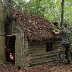 Had a blast filming this incredible little Cabin in the Woods. Watch the full video in my bio ️️ When one tugs at a single thing in nature, he finds it attached to the rest of the world – John Muir Survival Watch, Survival Bow, Survival Fishing, Survival Life, Wilderness Survival, Camping Survival, Outdoor Survival, Survival Skills, Camping Hacks