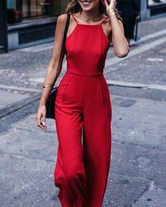Cute red jumpsuit