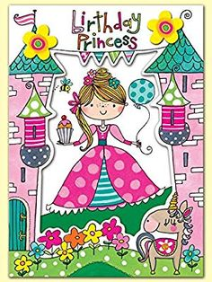 Rachel Ellen Princess Birthday Card: Amazon.co.uk: Electronics