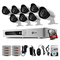 Special Offers - Xvim 8CH Security Camera System CCTV Surveillance System with 720p DVR 8pcs 720P 1200TVL Cameras Outdoor Metal Housing Weatherproof with 1TB Hard Drive Included -100feet Night Vision -IR Cut build in -Quick Remote Access via smart phone - In stock & Free Shipping. You can save more money! Check It (July 25 2016 at 02:42PM)…