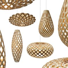 David Trubridge's lights come in a variety of shapes.