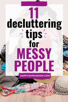 """The best decluttering ideas for the messy at heart. Once your home is clean, you will be one of those """"weird' people with a clean house. Messy People, Weird People, Cleaning Checklist, Cleaning Hacks, Cleaning Calendar, Declutter Your Life, Declutter House, Declutter Bedroom, Clutter Solutions"""