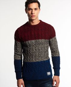 Superdry Jacob Colour Block Crew Neck Jumper